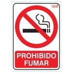 Cartel indicador de prohibido fumar