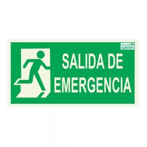 Cartel indicador de salida en caso de emergencia