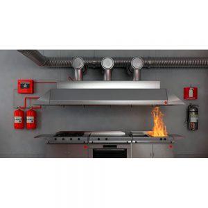 Sistema de extinción automático para cocina industriales