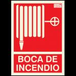Cartel indicador de boca de incendio