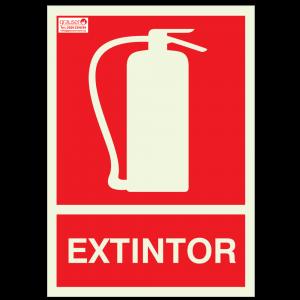 Cartel señalizador para extintores