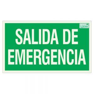 Cartel indicador salida de emergencia