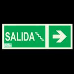Cartel indicador de salida