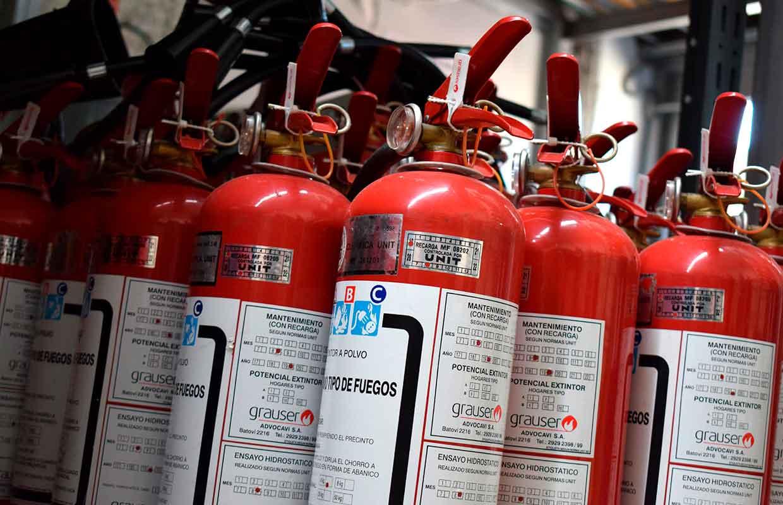 extintores en deposito