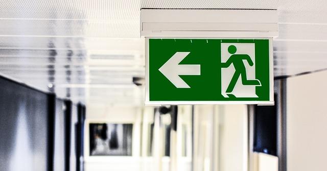 cartel de salida de emergencia